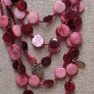 CHICOS | BOHEMIAN RED BEADED 5 STRAND NECKLACE